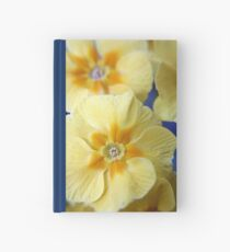 Yellow Primula Flowers Hardcover Journal
