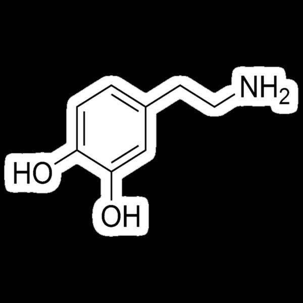 Quot Dopamine Molecule Quot Stickers By Laurenpears Redbubble