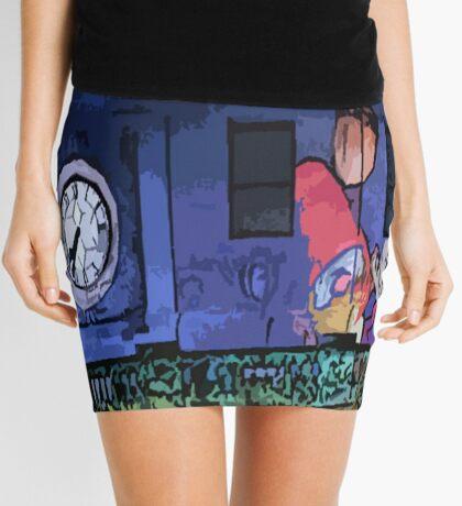 Gnomes in the Clocktower Mini Skirt