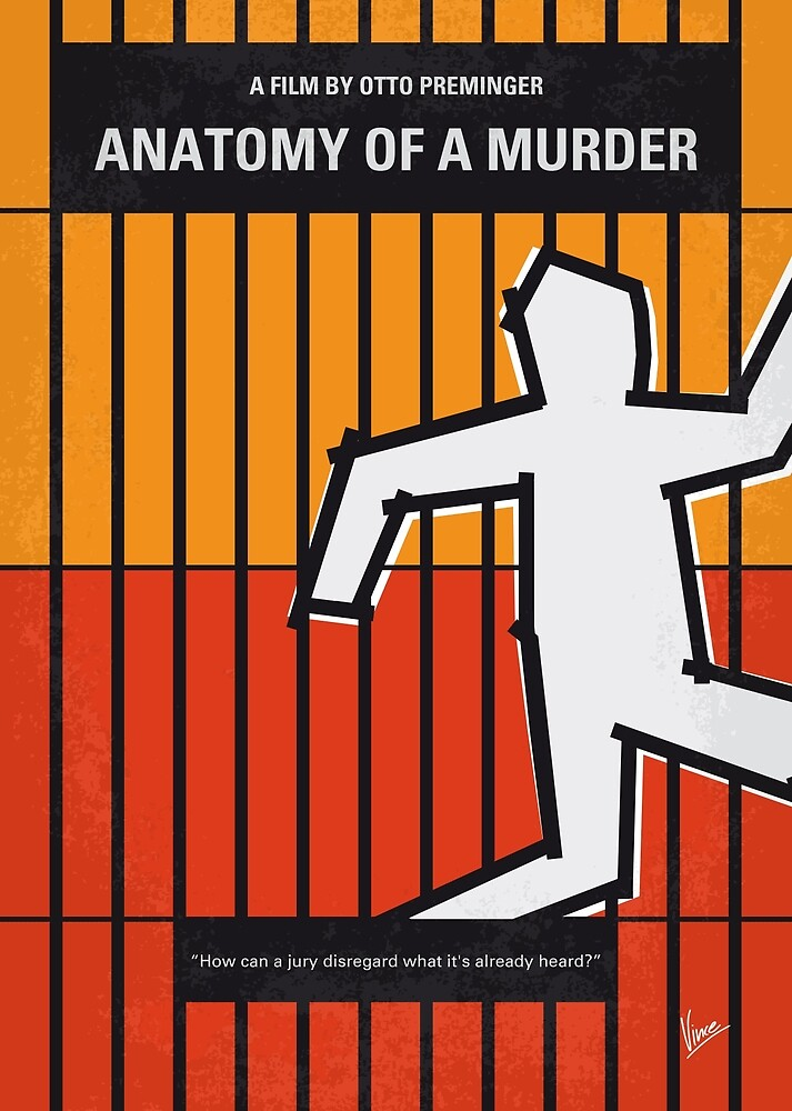 No1054 Meine Anatomie eines Mordes minimales Filmplakat von ChungKong Art