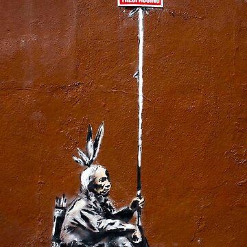 Banksy No Trespassing  by furioso
