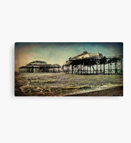 After the Fire, Brighton's Old West Pier Canvas Print