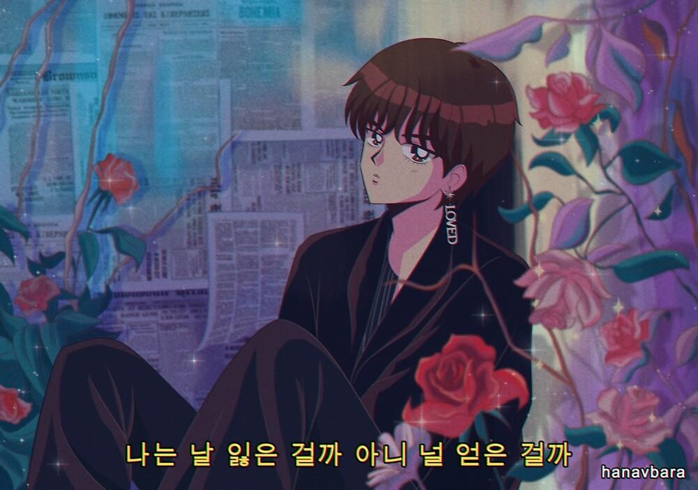 Bts V Singularity 90s Anime By Hanavbara Redbubble