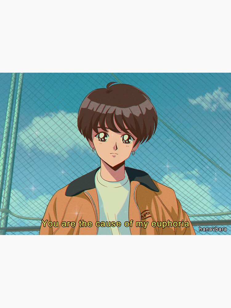 BTS Jungkook - Anime Euphoria 90's de hanavbara