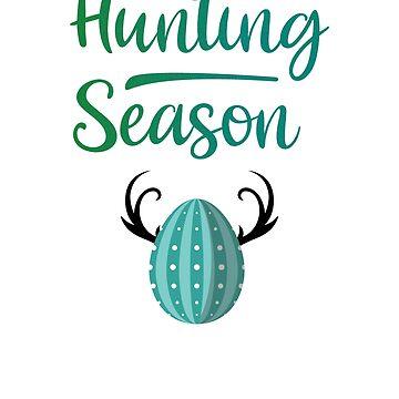 Hunting Season Easter Rabbit Eggs Cute Bunny  by allsortsmarket