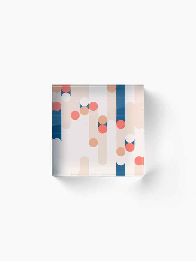 Alternate view of The Sound Of Tiles #redbubble #pattern Acrylic Block