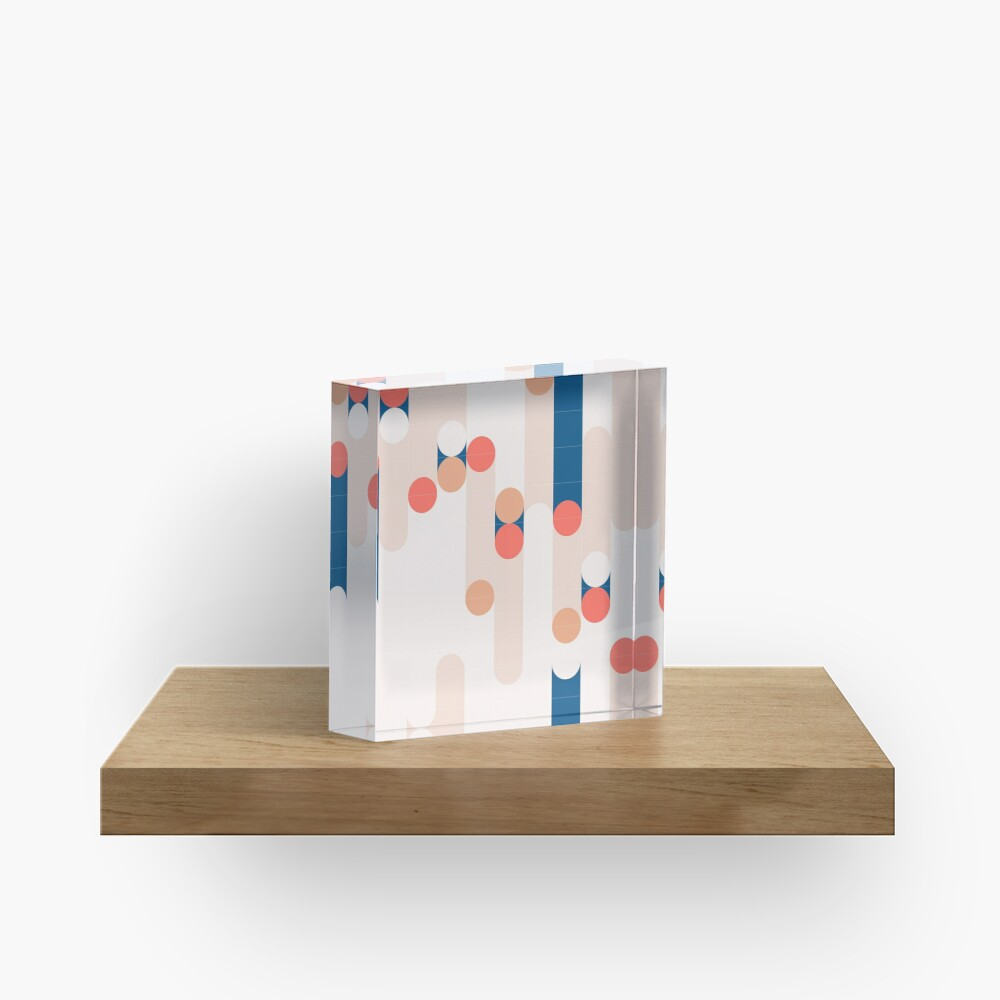The Sound Of Tiles #redbubble #pattern Acrylic Block