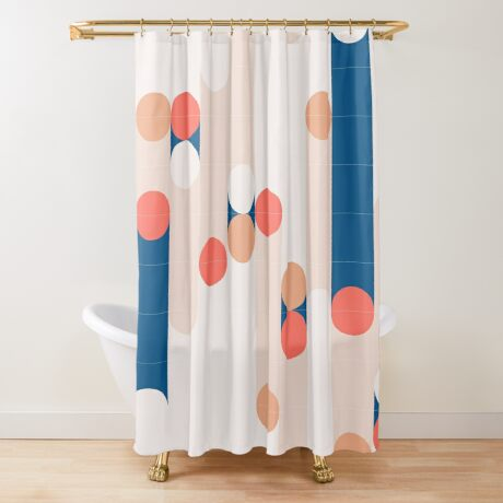 The Sound Of Tiles #redbubble #pattern Shower Curtain