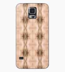 brown, beige, symmetry, abstract, design, pattern, art, decoration, wicker, vertical, textured, in a row, seamless pattern, textile, backgrounds Case/Skin for Samsung Galaxy