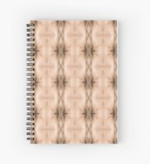 brown, beige, symmetry, abstract, design, pattern, art, decoration, wicker, vertical, textured, in a row, seamless pattern, textile, backgrounds Spiral Notebook