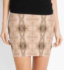 brown, beige, symmetry, abstract, design, pattern, art, decoration, wicker, vertical, textured, in a row, seamless pattern, textile, backgrounds Mini Skirt