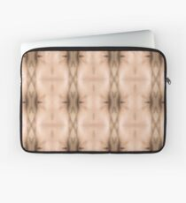 brown, beige, symmetry, abstract, design, pattern, art, decoration, wicker, vertical, textured, in a row, seamless pattern, textile, backgrounds Laptop Sleeve
