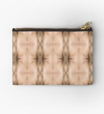 brown, beige, symmetry, abstract, design, pattern, art, decoration, wicker, vertical, textured, in a row, seamless pattern, textile, backgrounds Studio Pouch