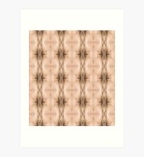brown, beige, symmetry, abstract, design, pattern, art, decoration, wicker, vertical, textured, in a row, seamless pattern, textile, backgrounds Art Print