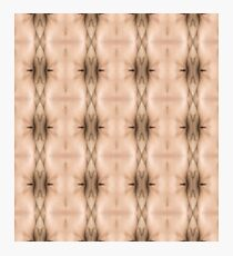 brown, beige, symmetry, abstract, design, pattern, art, decoration, wicker, vertical, textured, in a row, seamless pattern, textile, backgrounds Photographic Print