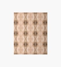 brown, beige, symmetry, abstract, design, pattern, art, decoration, wicker, vertical, textured, in a row, seamless pattern, textile, backgrounds Art Board
