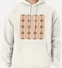 brown, beige, symmetry, abstract, design, pattern, art, decoration, wicker, vertical, textured, in a row, seamless pattern, textile, backgrounds Pullover Hoodie