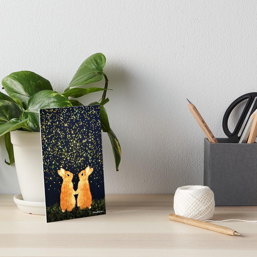 Suche nach Sternschnuppen (2008) Rabbit / Bunny Art Galeriedruck