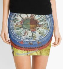 art, religion, old, decoration, antique, symbol, church, pattern, ancient, painting, spirituality, design, god, sign Mini Skirt