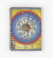 art, religion, old, decoration, antique, symbol, church, pattern, ancient, painting, spirituality, design, god, sign Spiral Notebook