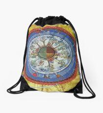art, religion, old, decoration, antique, symbol, church, pattern, ancient, painting, spirituality, design, god, sign Drawstring Bag