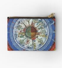 art, religion, old, decoration, antique, symbol, church, pattern, ancient, painting, spirituality, design, god, sign Studio Pouch