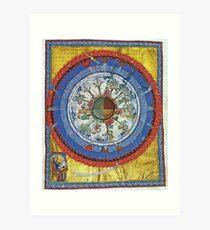 art, religion, old, decoration, antique, symbol, church, pattern, ancient, painting, spirituality, design, god, sign Art Print