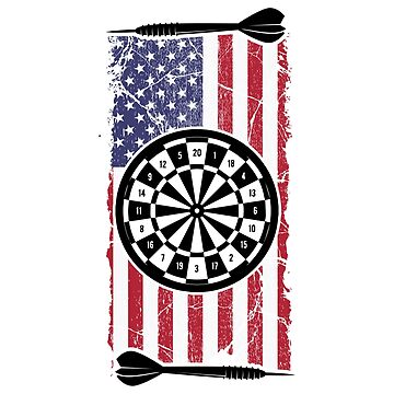 Proud American USA Flag Dart Player Gift by NiceTeee