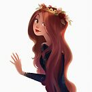 Red Hair and Roses by SumiIllustrator