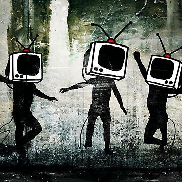 Banksy TV Heads by furioso