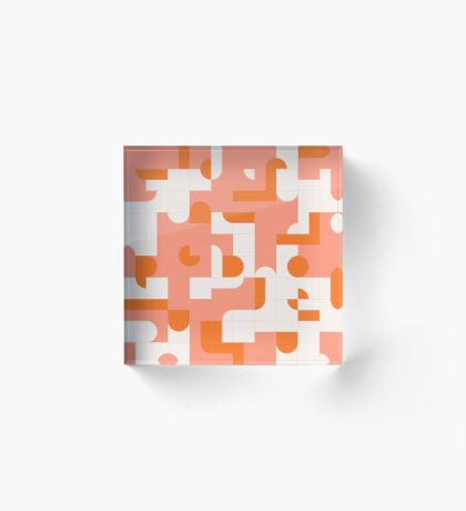 Puzzle Tiles #redbubble #pattern Acrylic Block