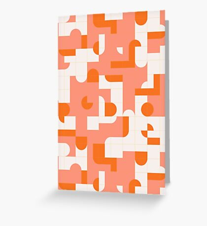 Puzzle Tiles #redbubble #pattern Greeting Card