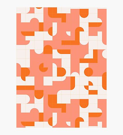 Puzzle Tiles #redbubble #pattern Photographic Print