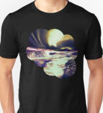 aurora borealis acryl reacls Slim Fit T-Shirt