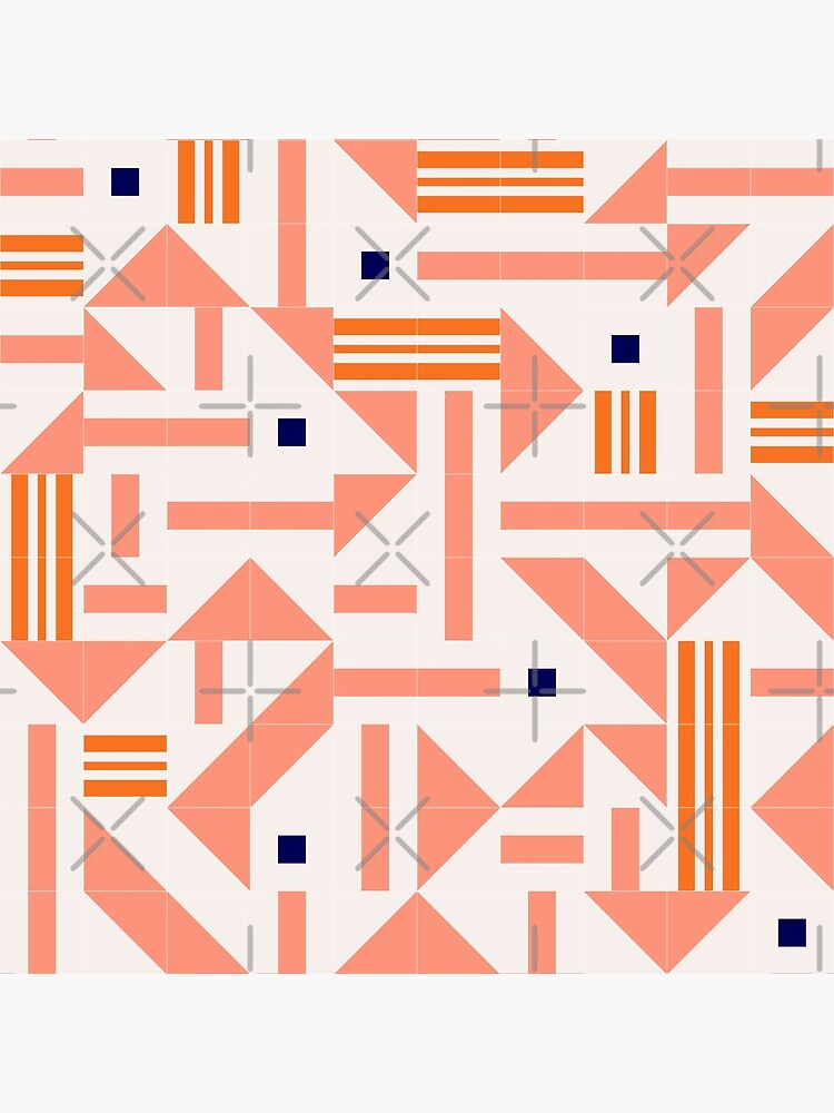Random Tiles #redbubble #pattern by designdn