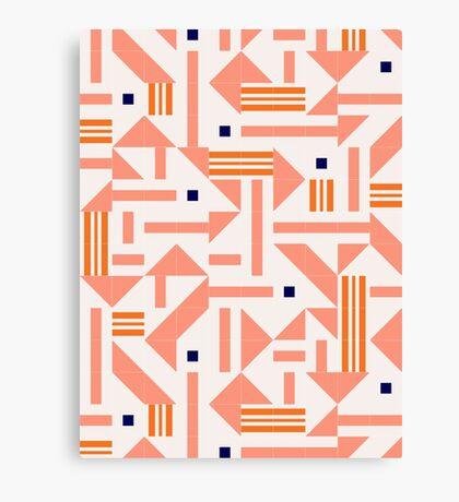 Random Tiles #redbubble #pattern Canvas Print
