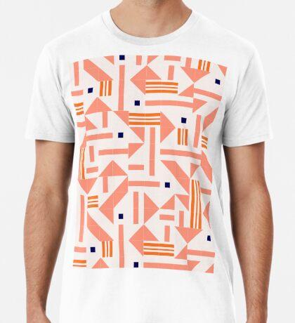 Random Tiles #redbubble #pattern Premium T-Shirt