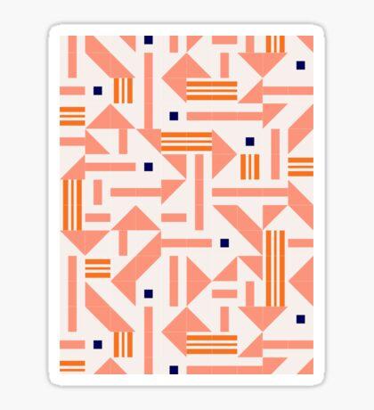 Random Tiles #redbubble #pattern Glossy Sticker