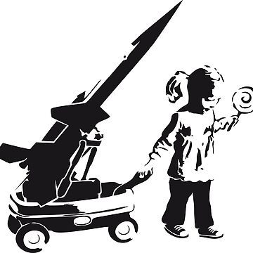 Banksy Girl and War Wagon by furioso