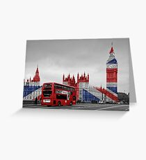 Big Ben and Union Jack Greeting Card