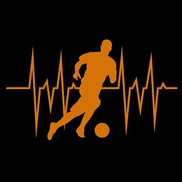 Football heart pulse by GeschenkIdee