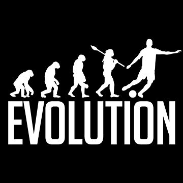 Evolution football by GeschenkIdee