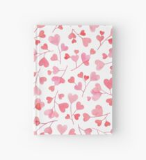 Blooming heart tree white Hardcover Journal
