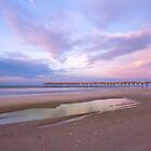 Sunrise over the beach and fishing pier by Ryan McGurl