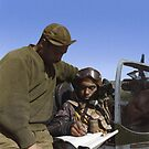 Pilot from the 332nd Fighter Group signing Form One Book by Marina Amaral
