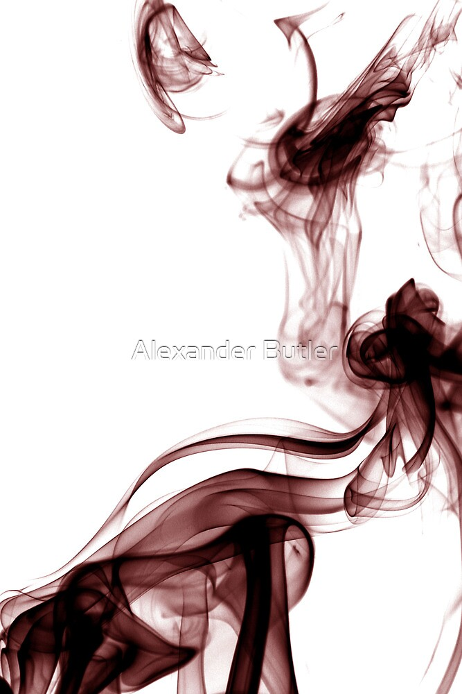 Smoke Photography - Red  by Alexander Butler
