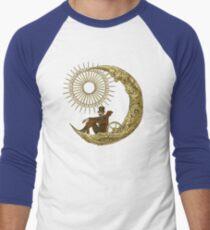 Moon Travel (Blue) Men's Baseball ¾ T-Shirt