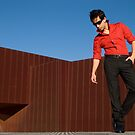 Red shirt and rust  by Stephen Colquitt