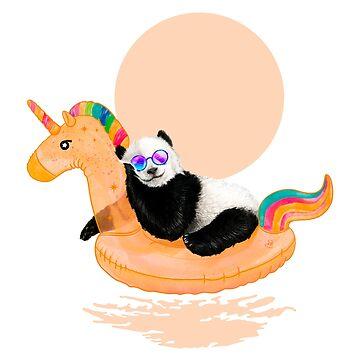 Chillin, Unicorn Panda by 38Sunsets