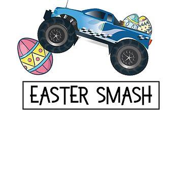 Easter Smash Funny Eggs Truck Easter Games Gift by allsortsmarket